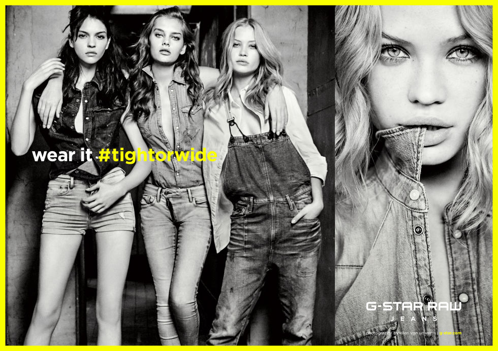 KATE BOGUCHARSKAIA, CAMILLA CHRISTENSEN AND SOLVEIG MOHR HANSEN IN G STAR RAW